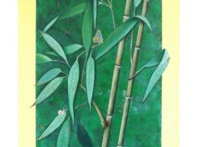 Bambous - 2.40x1.10 - Acrylique et huile