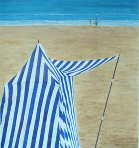 Cabine de plage bord de mer - 2,00x0,70 - Acrylique