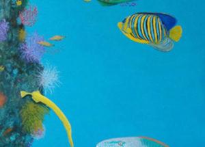 Décor Paysage Marin - 205x80 - acrylique