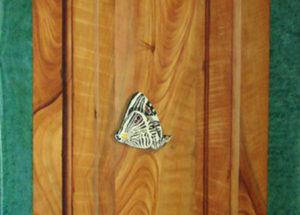 Decor imitation bois  Merisier - 240x105 - Huile et acrylique
