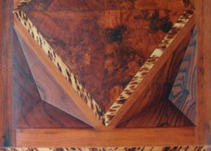 Decor imitation bois Loupe d'Orme - 2,40x1,05 - Huile