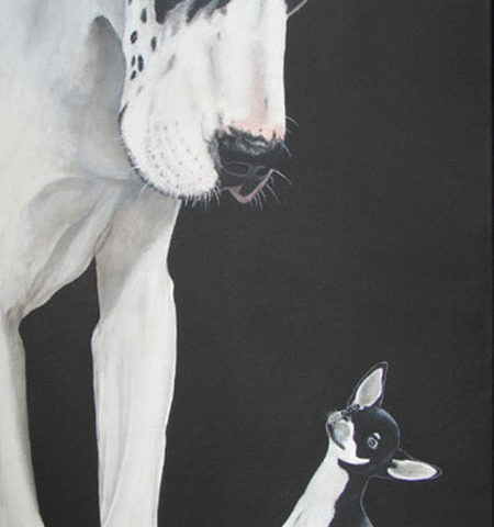 Dog et chihuahua - 80x40