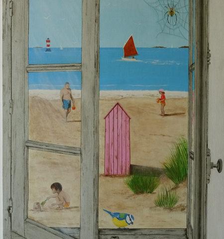 Fenêtre sur mer 70x50