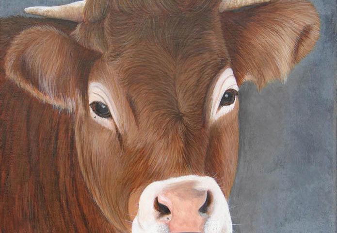 Vache 30x30
