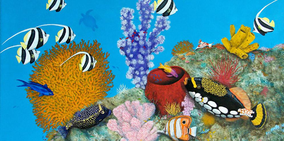 Merveilles des Océans - 100x65 - Acrylique