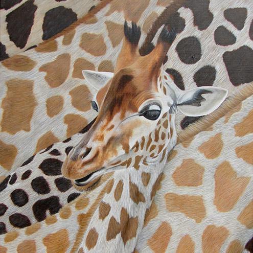 Miss Girafe - 81x54 - Acrylique