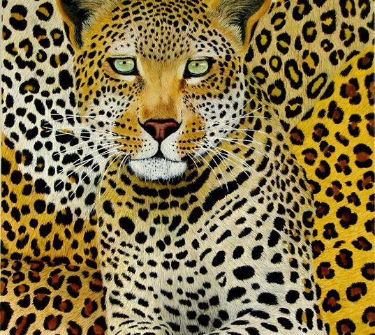 Mister Leopard - 81x54 - Acrylique