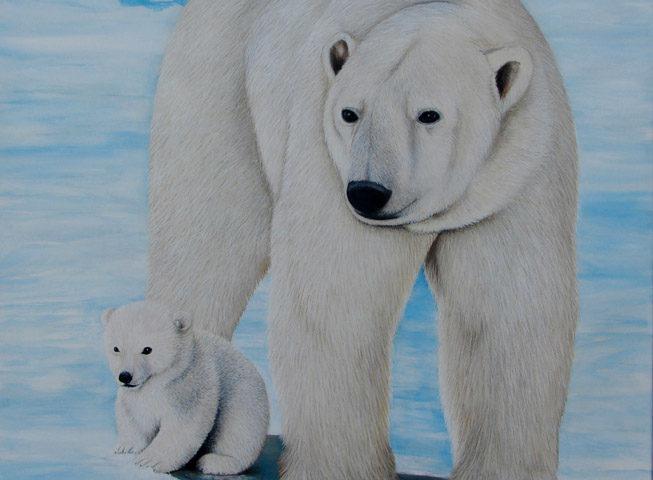 Ours polaire - 110x90 - Acrylique