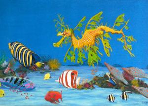 Paradis sous marin - 90x60 - Acrylique