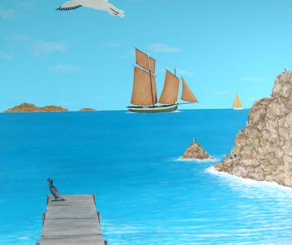 Décor Ambiance bord de mer - 260x200 - acrylique