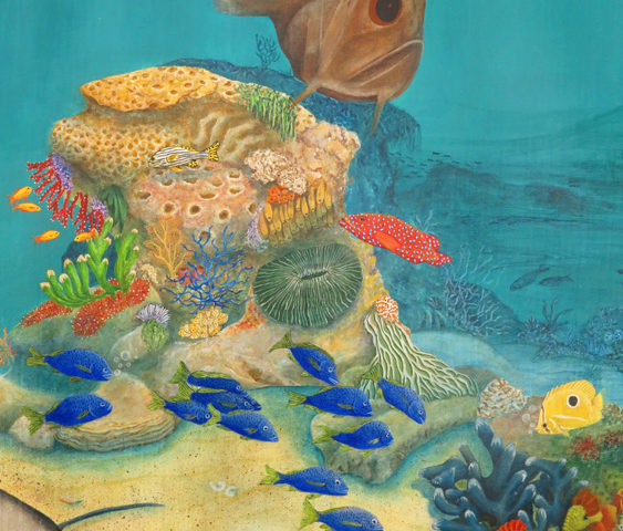 Sous la mer  - 100x80 - acrylic