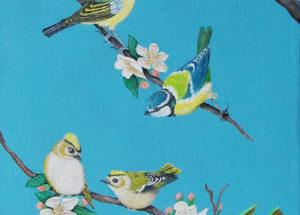 oiseaux des Jardins - 25x60