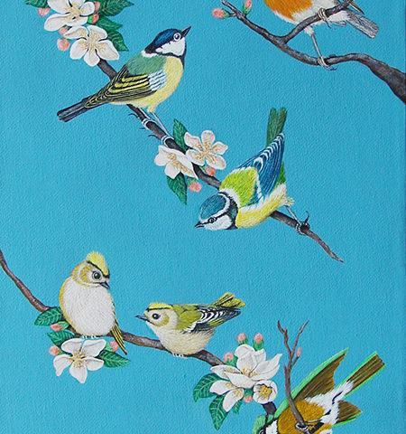 Oiseaux des jardins 25x60