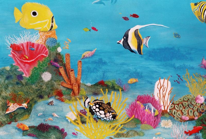 Artiste Peintre Elizabeth Blain Art Animalier Fonds Marins Et Trompe L Oeil Fonds Marins