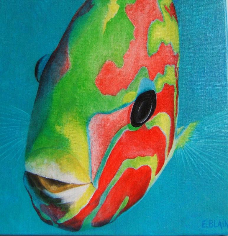 artiste peintre elizabeth blain art animalier fonds marins et trompe l 39 oeil trompe l oeil. Black Bedroom Furniture Sets. Home Design Ideas