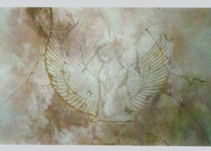 Décor Egyptienne - effet pierre - 100x60 - acrylique